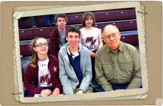 Grandpa and the grandkids