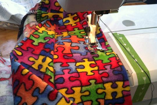 puzzle pants