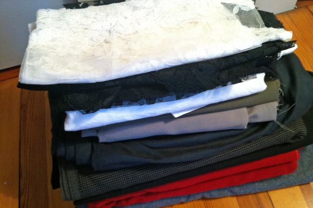 "The ""keep"" pile…will set this aside for winter sewing."